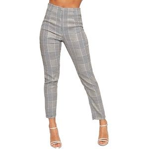 Pants - Parisian Gingham Check Print Trousers